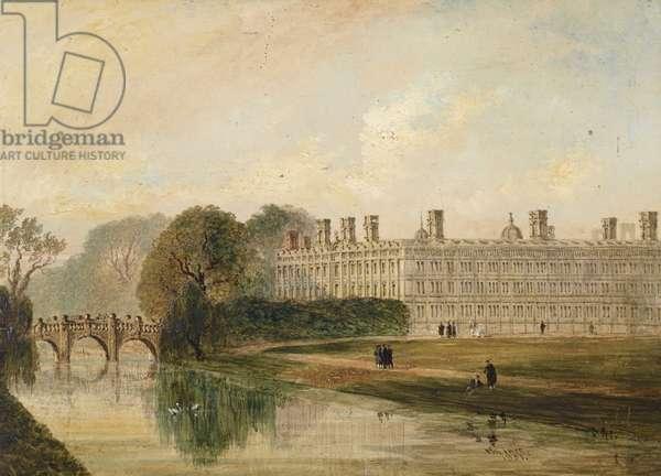 Clare College, Cambridge seen from King's Bridge