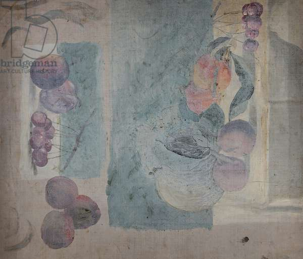Still Life of Fruit (from a Porftolio of oil sketches), c.1913 (oil on millboard)