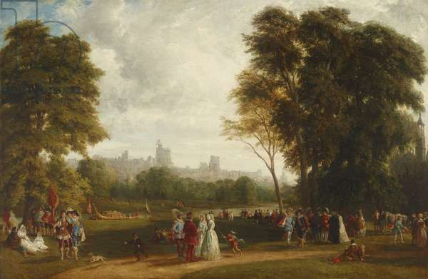 The Montem at Eton, with Windsor Castle beyond the River Thames