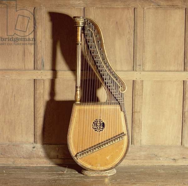 A harp in the Music Room (wood)