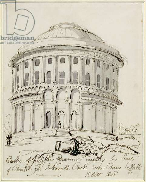 Drawing of Ickworth, 1828 (pen & ink on paper)