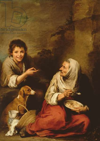 Peasant Woman and a Boy (oil on canvas) (see also 234702)