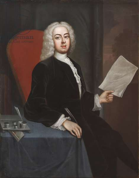 An Unknown Young Man holding a piece of Paper