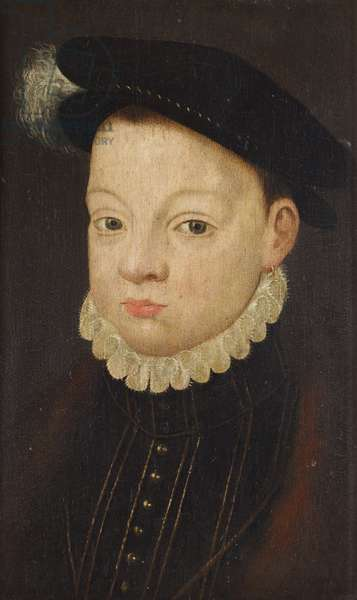 King François II, King of France (1544–1560), or possibly King Charles IX (1550 - 1574), as a little boy