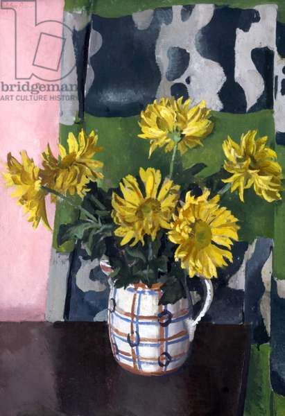 Chrysanthemums, 1930s (oil on canvas)