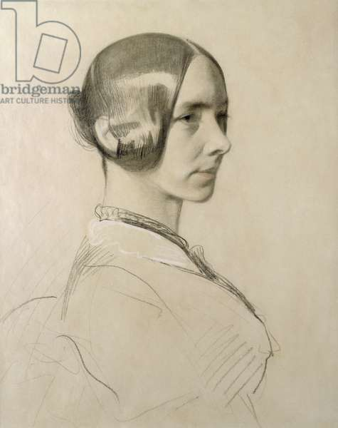 Jane Carlyle, c.1838 (charcoal on paper)