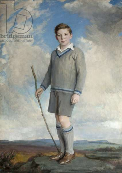William Henry Cecil John Robin Watson-Armstrong, 3rd Baron Armstrong of Bamburgh and Cragside, as a young boy, 1930 (oil on canvas)