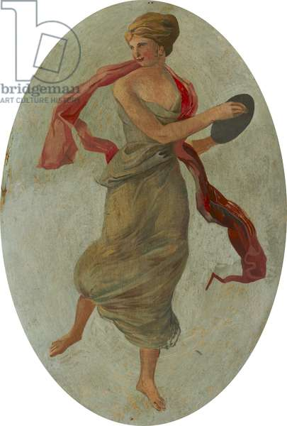Dancing Girl in Green (oil on canvas)
