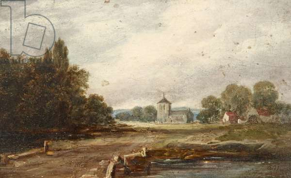 Landscape with a Road leading to a distant Church