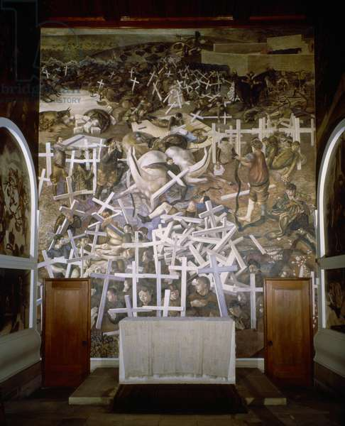 The Resurrection of the Soldiers, 1923-27 (wall painting) (see also 778667)