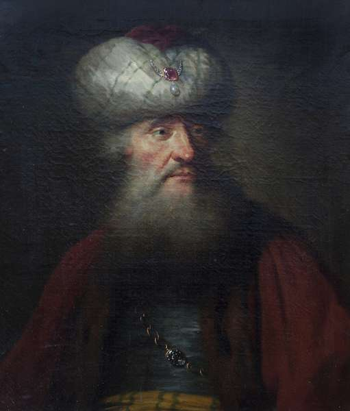 A Bearded Man in Oriental Costume (in the manner of Rembrandt)