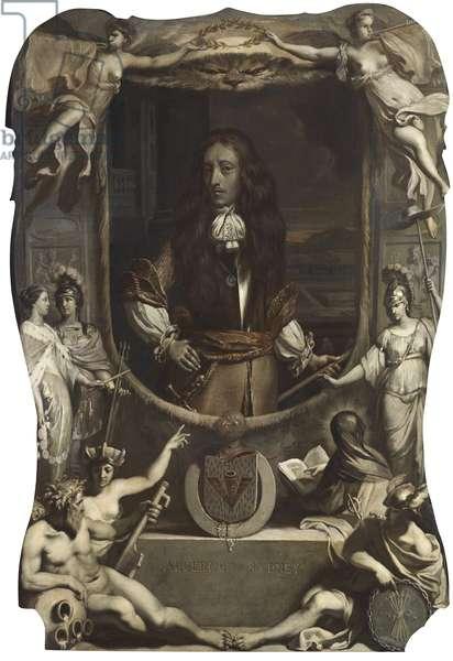 An Allegorical Posthumous Portrait of Algernon Sidney (1622-1683) en grisaille