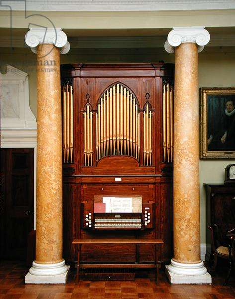 View of the Chamber Organ in the Music Room, 1807 (photo)