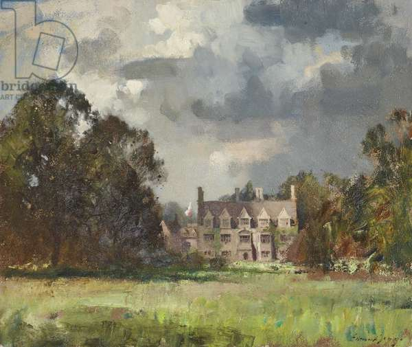 Anglesey Abbey by Day, Spring 1949 (oil on canvas)