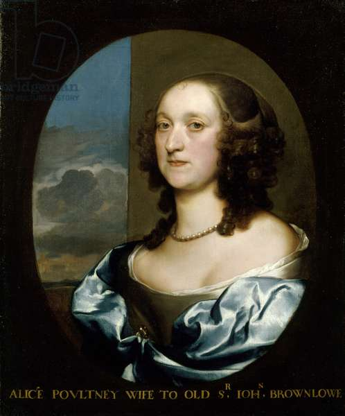Portrait of Alicia Poultney, wife to 'Old' Sir John Brownlow (oil on canvas)