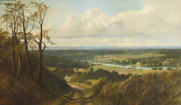 View of Runnymede from Cooper's Hill with a Distant View of Windsor Castle