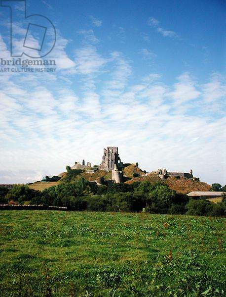 View from the South, Corfe Castle, Dorset (photo)