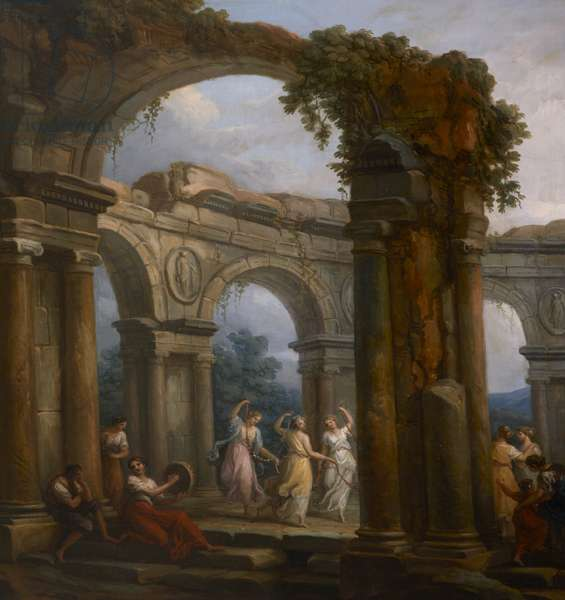 Girls dancing amid Classical Ruins
