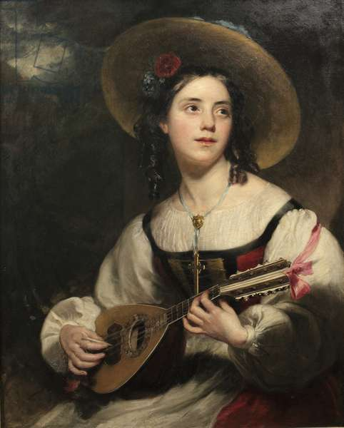 Emily Maria Pickersgill, later Mrs George Hebberd Cable, in Spanish Costume, c.1850 (oil on canvas)