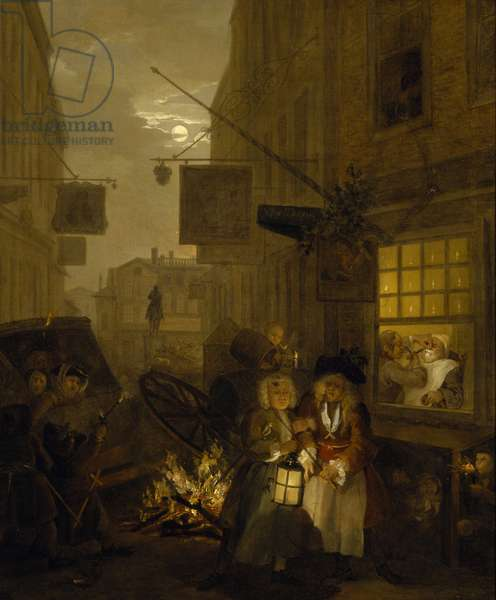 The Times of the Day: Night, 1738 (oil on canvas)