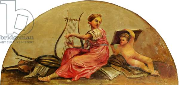 Putto with Personification of Music