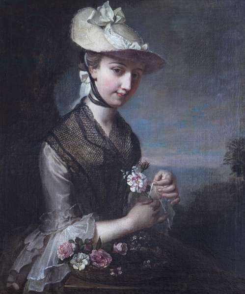 Young Woman with Roses ('Spring')