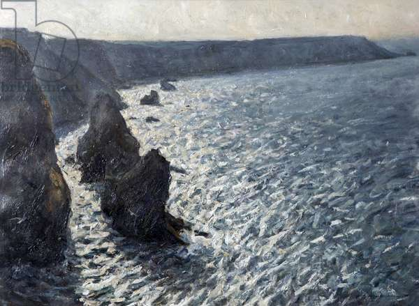 Near Hell's Mouth, Cornwall, 1995 (oil on board)