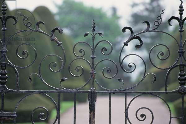 Detail of the Castle gates (photo)