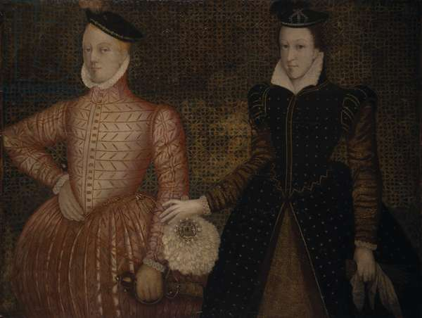 Portrait of Mary Queen of Scots and Darnley (oil on paneL)