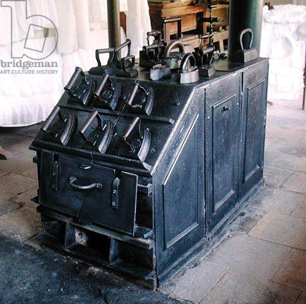 Irons on the furnace in the Laundry (photo)