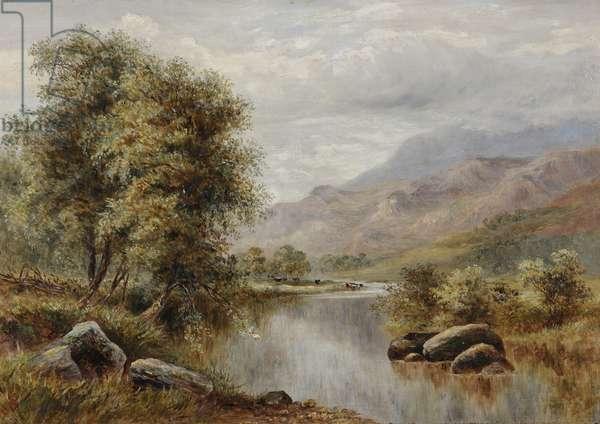 River in a Highland Landscape