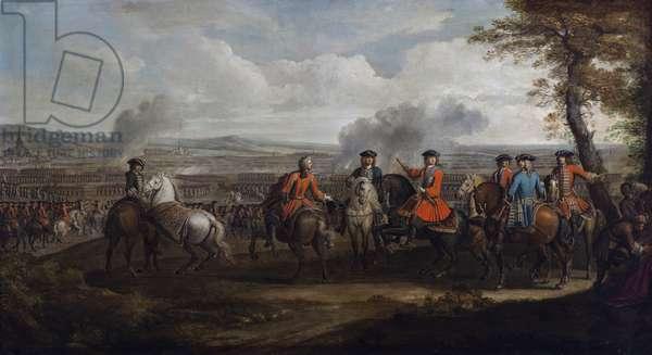 The Duke of Marlborough at the Battle of Blenheim (oil on canvas)