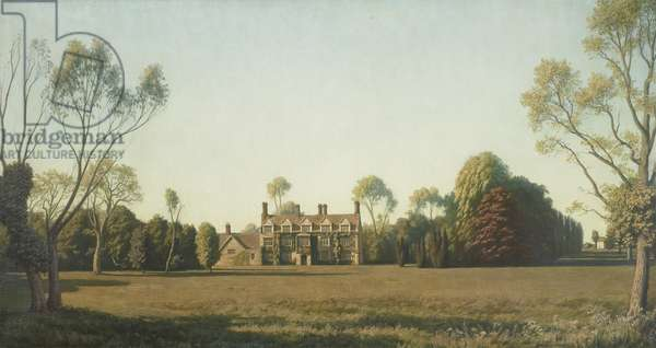 South Front of Anglesey Abbey, Cambridgeshire, 1935 (oil on canvas)