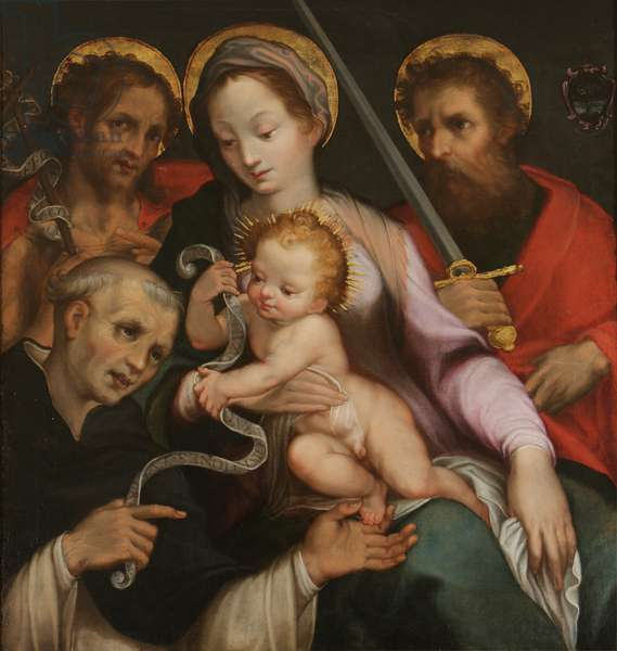 The Madonna and Child with Saint John the Baptist, Saint Paul and Saint Hyacinth