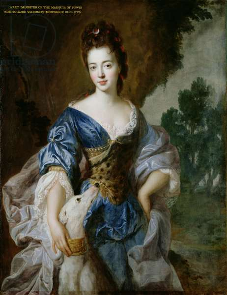 Portrait of Mary (d.1725) Daughter of the 1st Marquis of Powis, as Diana (oil on canvas)