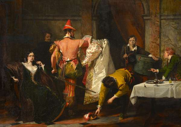 Catherine and Petruchio, from Act IV, Scene i from William Shakespeare's 'The Taming of the Shrew', 1832 (oil on canvas)