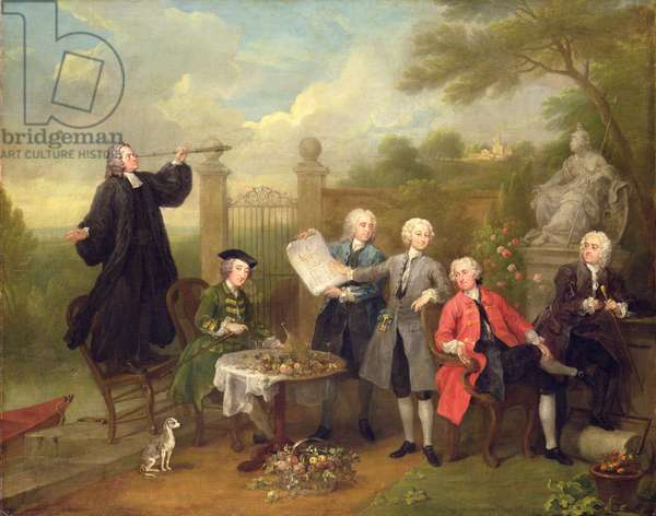 The Holland House Group, 1737 (oil on canvas)