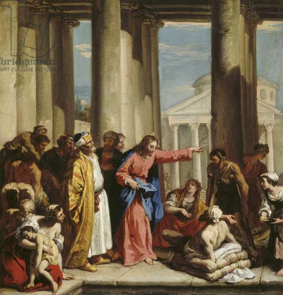 Christ healing the Lame Man at the Pool of Bethesda (oil on canvas)