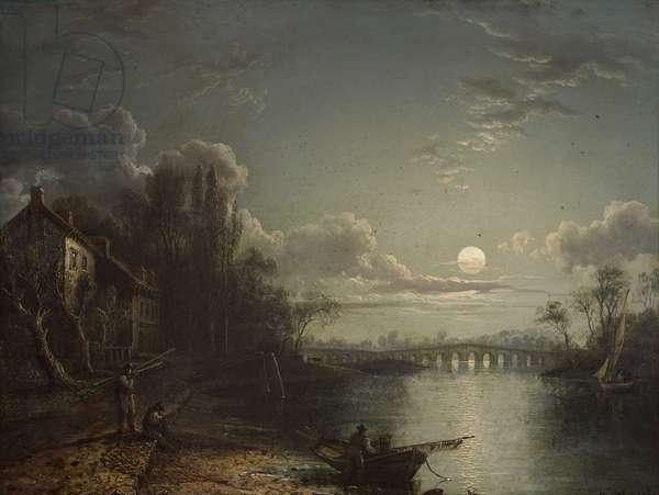 Walton Bridge by Moonlight