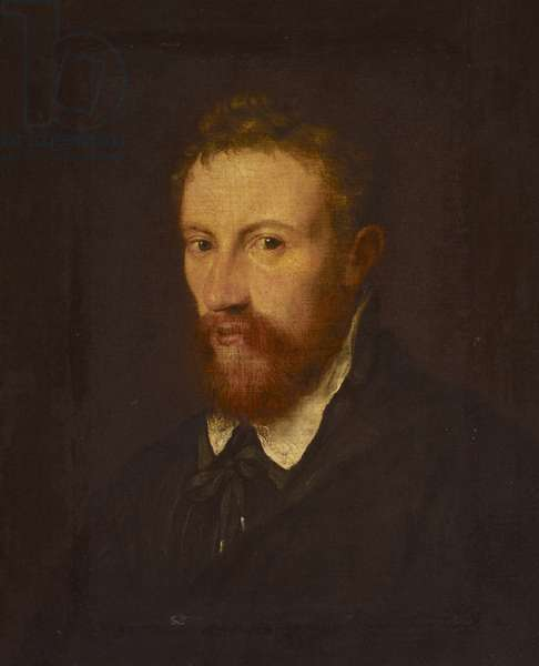 An Unknown Man with a Red Beard (oil on canvas)