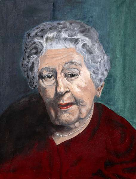Agatha Christie, c.1975 (oil on canvas)