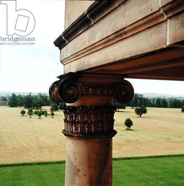 The capital of a column, Attingham Park, Shropshire (photo)