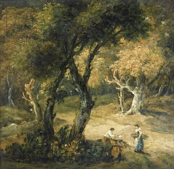 Two Peasants gathering Faggots in a Wood