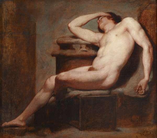 Academic Study of a Reclining Male Nude Asleep