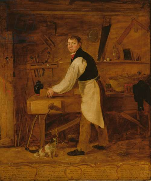 Thomas Rogers, a Carpenter, 1830 (oil on canvas)