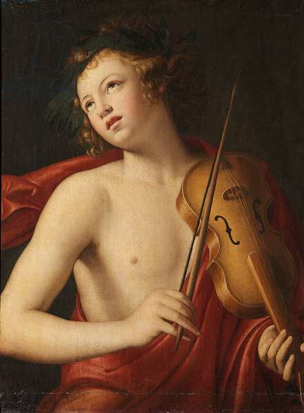Orpheus playing a Viol