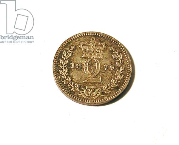 Maundy coin, 1879 (silver)