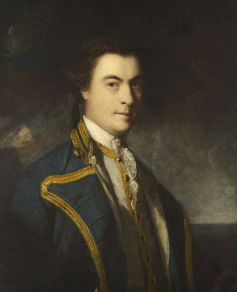 An unknown naval officer, 1760-65 (oil on canvas)