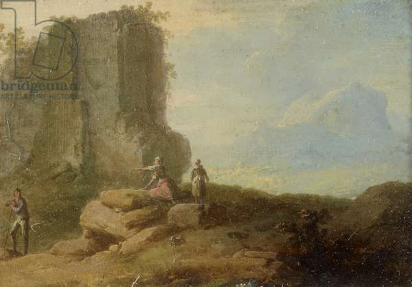 Classical Landscape, with Figures and Ruins