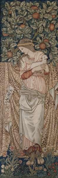 St. Agnes, William Morris & Co. (tapestry)
